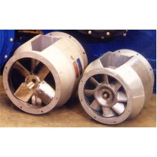 Вентиляторы осевые с раздвоенным воздушным каналом